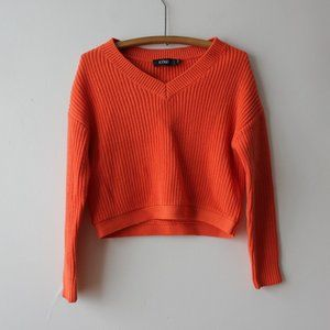 Neon Orange Sweater Size XS